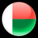 madagascar flag glossy round wallpaper